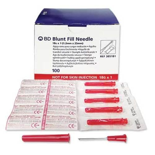 """BD Blunt Fill Needle 18G X 1"""""""