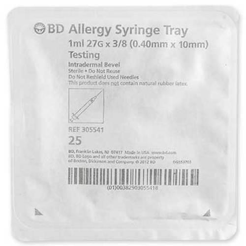 """BD Allergist Pack 27G x 3/8"""" Intradermal Bevel"""