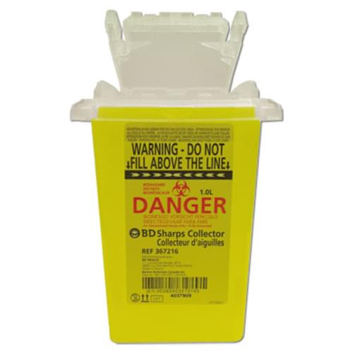 BD Eclipse Compatible Disposal Container 1 QT Yellow