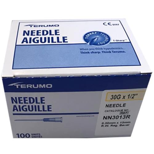 "Terumo® 30G x 1/2"" Hypodermic Regular Wall Needle"