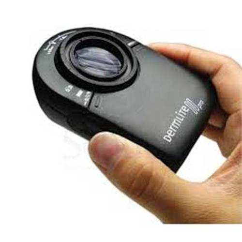 <b>A Powerful and Versatile Portable Skin Visualization System</b> <br> <p>DermLite II Pro has a large 25mm lens and 10x Optics, button activated dual-polarization control, and a rechargeable battery.</p> <p>The <b>patented cross-polarization system</b> is activated simply by depressing a button providing instant polarization control over lesion visualization. From superficial structures to deeper pigmentation, you see more detail at various depths. Along with a powerful <b>rechargeable lithium-ion battery</b>, and 32 bright-white LEDs (light emitting diodes), this device is a fantastic, convenient skin imaging tool.</p> <p>DermLite II Pro gives you the <b>choice between non-contact and contact</b> dermoscopy. Best of all, this innovative device makes it easier than ever to record what you see. You can <b>attach your camera or iphone</b> via the DermLite II PRO's built-in threaded connection (cameras require the use of stepping rings and or adapters). The retractable spacer comes standard with a removable glass faceplate and 10mm scale.</p> <p>Each unit comes with 3Gen's 5 year warranty, and includes a silicone sleeve with lanyard and battery charger.</p>