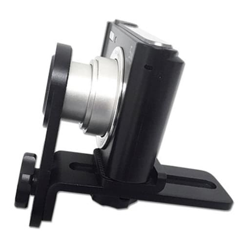 <p>Easy to use, extremely sturdy, and machined from high-quality aluminum, this adapter lets you magnetically attach any DermLite DL2, DL3, or DL4 model to a large variety of point-and-shoot cameras. Simply screw it into your camera's tripod hole and slide two components to fit your comera of choice. </p>