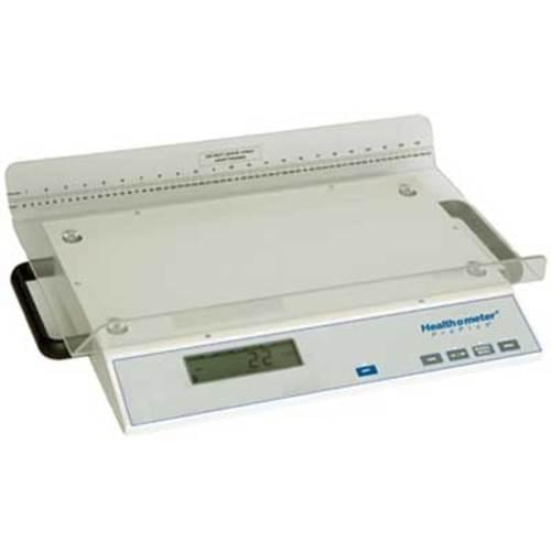 "<p>The 2210KL neonatal scale was designed for use in the NICU, nursery, delivery room and pediatric practices where a high degree of accuracy is critical to ensure that babies are gaining weight. A convenient cart is available to easily move the scale from location to location.</p> <p><strong>Features</strong></p> <ul> <li>Motion Detection <ul> <li>Motion sensing technology compensates for baby's movement and high-resolution readings provide more accurate weight measurements, ideal for the neonatal environment</li> </ul> </li> <li>Convenient Features <ul> <li>The plastic tray is easy-to-clean and heavy-duty built-in handles allow for portability</li> </ul> </li> <li>Value-Added Features <ul> <li>Operating functions (LB/KG/GM Lockout, LB/GM Conversion, LB/KG Conversion, Zero, Tare, Reweigh/Recall, Auto Zero, Auto Off) included</li> </ul> </li> <li>Built-In Measuring Tape <ul> <li>The easy-to-read measuring tape allows the user to measure both weight and height simultaneously</li> </ul> </li> </ul> <p><strong>Specifications</strong></p> <ul> <li>Capacity: 45 lb / 20 kg / 20,000 gm </li> <li>Resolution: 1 g (to 10,000 g); 5 g (10,001 to 20,000 g); 0.1 oz (0 – 45 lb)</li> <li>Display Size (w x h): 5 1/4"" x 1 1/8"" / 133 mm x 35 mm, LCD display</li> <li>Tray Size (w x d x h): 24"" x 15 3/8"" x 3"" / 610 mm x 391 mm x 76 mm</li> <li>Product Weight: 24 lb / 10.8 kg</li> <li>Measuring Tape: 0"" - 23"" / 0 cm - 60 cm</li> <li>Heavy-duty handles for ease of moving</li> <li>Power: 6 C batteries included</li> <li>Warranty: 2 Year Limited Warranty </li> </ul>"