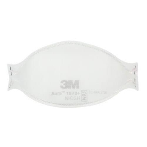 <p><strong>3M™ Aura™ 1870+ Health Care N95 Particulate Respirator and Surgical Mask</strong></p> <p><strong>Made in Canada</strong></p> <p>Available late May to early April. Contact us if you'd like to pre-order!</p> <p><strong>Features</strong></p> <ul> <li>NIOSH-approved N95 rating</li> <li>Classified as a Class I Medical Device in Canada; cleared for sale by the Food and Drug Administration (FDA) in the US</li> <li>Fluid Resistant 160 mmHg</li> <li>Flammability Rating Class I</li> <li>Adjustable nose clip</li> <li>3-Panel, flat-fold style</li> <li>Stapled headbands</li> <li>Individually packed</li> <li>Made in Canada</li> </ul> <p><strong>Material Composition</strong></p> <ul> <li>Straps – Polyisoprene</li> <li>Staples – Steel</li> <li>Nose Clip – Aluminum</li> <li>Nose Foam – Polyurethane</li> <li>Filter – Polypropylene</li> <li>Cover web – Polypropylene</li> <li>This respirator contains no components<br />made from natural rubber latex</li> <li>Approximate weight of the product: 9.92 g (0.35 oz)</li> </ul> <p><strong>Approvals and Standards</strong></p> <ul> <li>NIOSH approved N95 respirator</li> <li>Meets NIOSH 42 CFR 84 N95 requirements for a minimum 95% filtration efficiency against<br />solid and liquid aerosols that do not contain oil</li> <li>NIOSH approval number: TC-84A-5726</li> <li>FDA cleared for use as a surgical mask</li> <li>Health Canada Class I medical device</li> <li>Bacterial Filtration Efficiency F2101 > 99% BFE</li> <li>Assigned Protection Factor (APF 10) per USOSHA and Canada CSA Z94.4</li> </ul> <p><strong>Time Use Limitation</strong></p> <p>Respirators may be used until damaged, breathing becomes difficult, or contaminated with blood or body fluids. Discard after every use when used for surgical procedures. Follow local jurisdiction and facility infection control guidance and policies.</p> <p><strong>Use For</strong></p> <ul> <li>5 years from the date of manufacture</li> <li>Use by date on the box in YYYY-MM-DD format</li> <li>Store respi