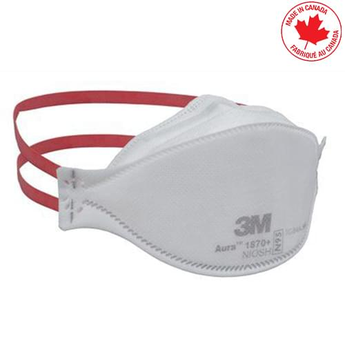 3M™ Aura™ 1870+ N95 Health Care Particulate Respirator and Surgical Mask 440 Masks/Case