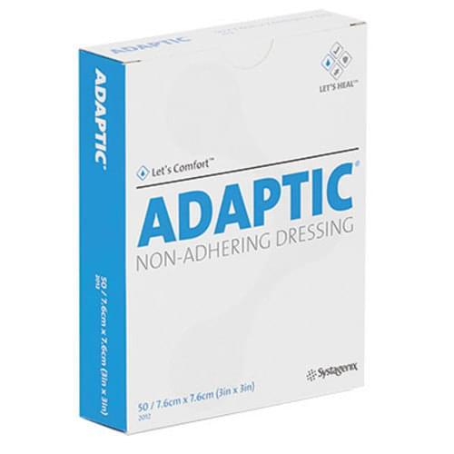 Adaptic Non-Adhering Dressing With Petrolatum 7.6 cm x 7.6 cm 50/box