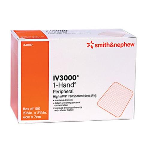 IV3000 1-Hand Catheter Film Dressing 6cm x 7cm