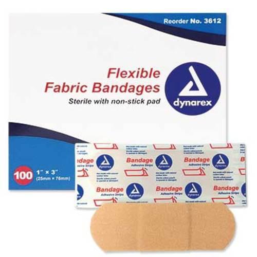 "Fabric Dressing Strip 1"" x 3"" 100/box"