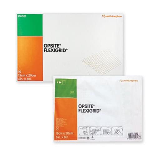 OpSite Flexigrid Adhesive Clear Film Dressing 15cm x 20cm