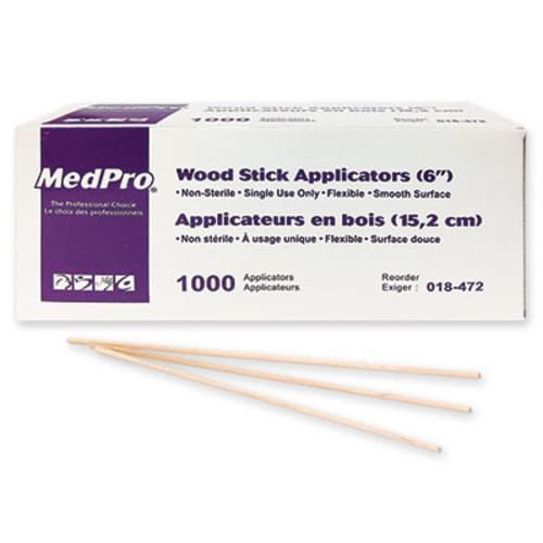 "MedPro Wood Stick Applicators 6"""