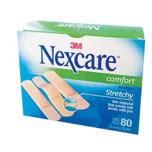 "3M Nexcare& Comfort Strip Bandages 3/4"" x 3"""
