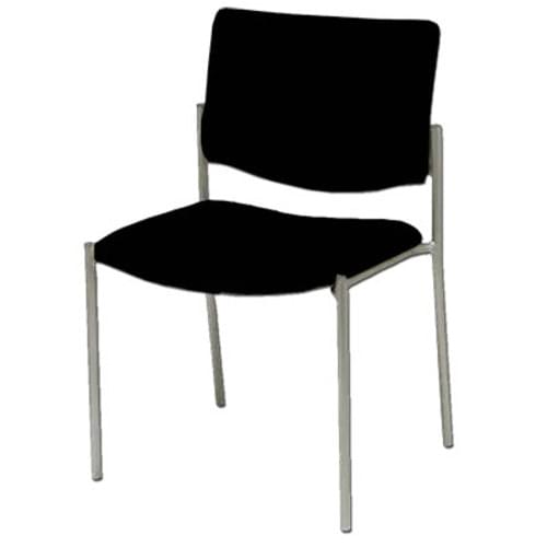 Bariatric Side Chair No Arms - Black (400 lb Capacity)