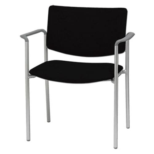 Bariatric Side Chair With Arms - Black (400 lb Capacity)