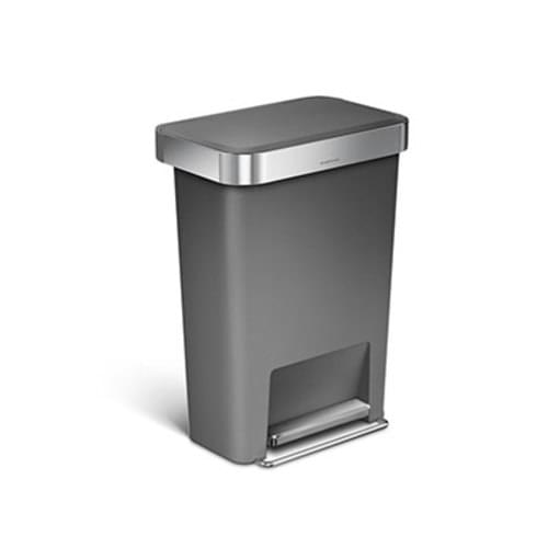 Step On Grey Garbage Can 45L