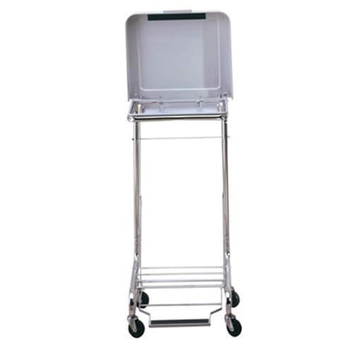 Step-on Hamper with Lid and Casters