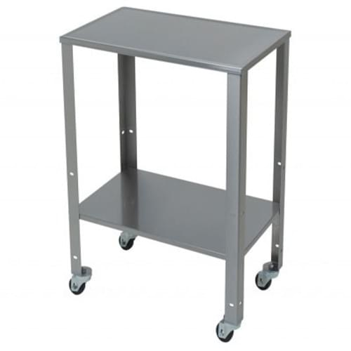 "<ul> <li>Rolling Baby Scale Cart </li> <li>Detecto's stainless steel rolling baby scale cart allows the weighing to come to the patient. </li> <li>Smooth gliding 2.5"" diameter rubolene wheels and </li> <li>27.75"" W x 16.75"" D x 33.4"" H dimensions allow it to easily fit through doorways into patient rooms. </li> <li>A lower shelf with three height adjustment levels allows clinical staff to store patient records and instruments onboard the cart.e. </li> <li>Adjustable, 3-position, lower shelf. </li> <li>Clinical grade wheels with 2 locking wheels to keep the table in place.</li> <li> Heavy-duty design incorporating high grade stainless steel. </li> </ul>"