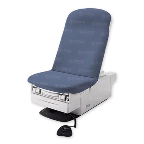 Ritter 225 Barrier-Free Examination Chair With Roller System & Heater Soothing Blue
