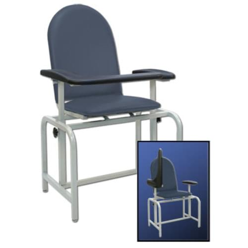 Winco Padded Phlebotomy Chair - Ridge Blue