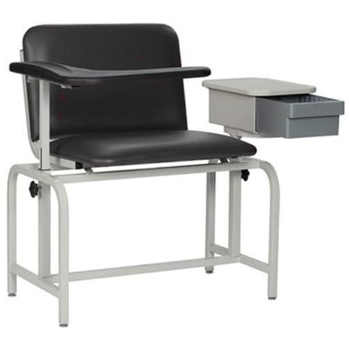 Winco Phlebotomy Padded Chair With Drawer XL Black