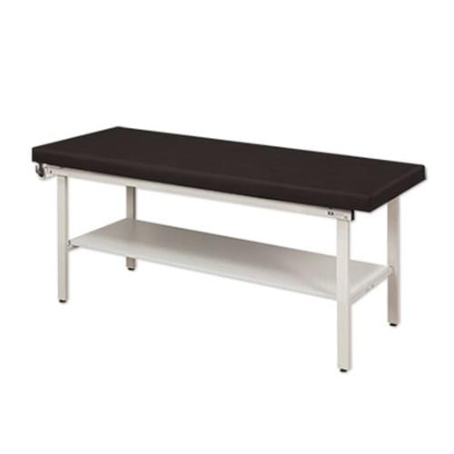 Clinton Treatment Table H-Frame - With Shelf | Black