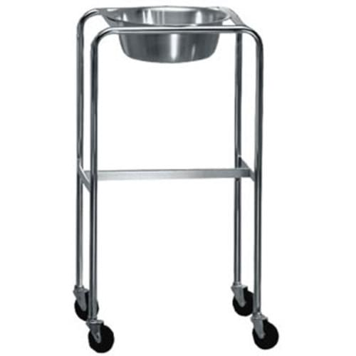 Mobile Stand With Single Stainless Steel Bowl