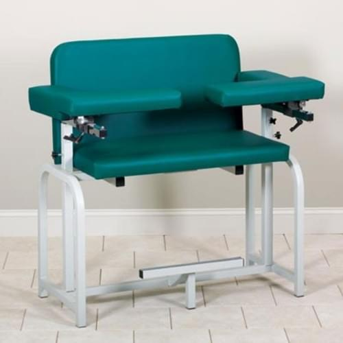 Clinton Extra-Wide Blood Drawing Chair With Flip Arms