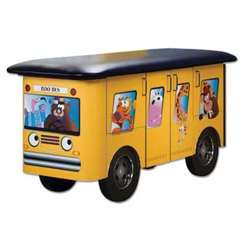 Clinton 7020 Yellow Zoo Bus Pediatric Exam Table (No Scale)