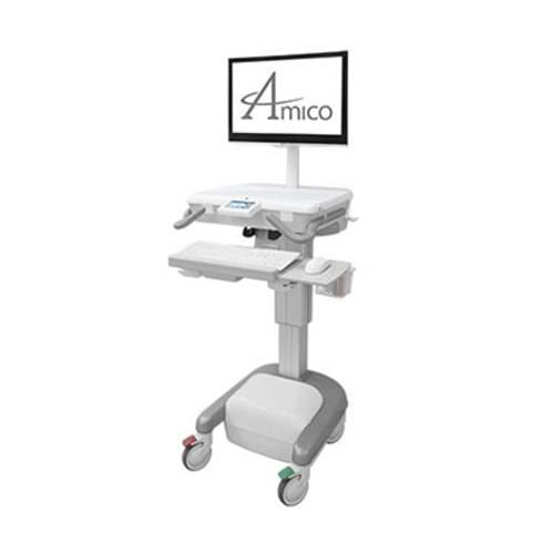 Amico Hummingbird Mobile Cart - For Monitors/Screens with Power