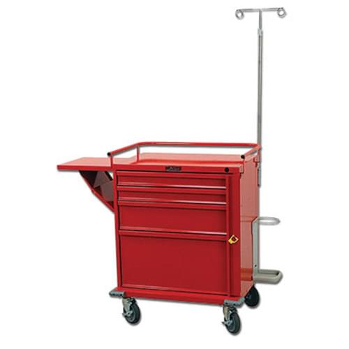 V-Series Four Drawer Crash Cart with Emergency Accessory Package
