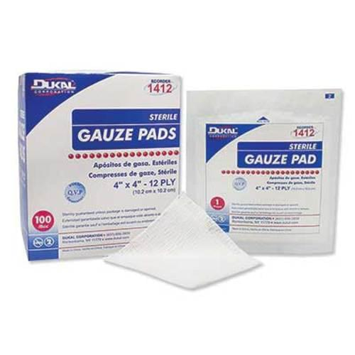 "<ul> <li>4"" x 4""</li> <li>12-ply</li> <li>Sterile</li> <li>100% woven cotton</li> <li>Individually wrapped for your convenience</li> <li>Perforated carton for easy dispensing</li> <li>Perfect for when only one pad is needed</li> <li>Not made with natural rubber latex</li> </ul>"