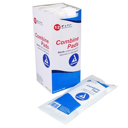 "Dynarex Combine Pads Sterile 8"" x 7.5"""