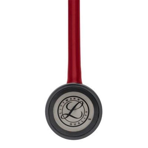 """<p>Reward your achievement with a mark of distinction—the 3M™ Littmann® Master Cardiology™ Stethoscope. With its handcrafted stainless steel chestpiece, this top-of-the-line stethoscope is designed for peak performance. It features a patented tunable diaphragm that conveniently alternates between low and high-frequency sounds with a simple change of pressure on the chestpiece.</p> <p><strong>Details</strong></p> <ul> <li>Anatomically designed headset</li> <li>Two-in-one tube design helps eliminates noise from tubes rubbing together</li> <li>Pressure-based sound frequency adjustment with tunable diaphragm</li> <li>Special-procedures adaptor for neonatal or pediatric auscultation included</li> <li>Includes patented snap-tight soft-sealing eartips</li> <li>Non-chill rim and diaphragm</li> <li>Durable design</li> </ul> <p><strong>Specifications</strong></p> <ul> <li>Binaural Construction: Double Lumen</li> <li>Chestpiece Finish: Machined Stainless Steel</li> <li>Chestpiece Technology: Single-Sided</li> <li>Chestpiece Weight: 3.2 Ounce (90 g)</li> <li>Diaphragm Diameter: 2"""" (5.1 cm)</li> <li>Diaphragm Material: Epoxy/Fiberglass</li> <li>Headset Material: Wide diameter aerospace alloy/anodized aluminum</li> <li>Overall Length: 27"""" (69 cm)</li> <li>Performance: 10</li> <li>Special Adaptors: Yes</li> <li>Tube Colour: Burgundy</li> <li>Warranty: 7 Years</li> </ul>"""