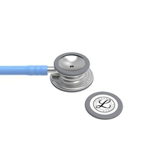 "<p>The latest version of the stethoscope that helps millions of medical professionals achieve their best. The 3M™ Littmann® Classic III™ Stethoscope offers high acoustic sensitivity for exceptional performance, a versatile two-sided chestpiece with tunable diaphragms that let clinicians hear different frequency sounds by simply adjusting the pressure, snap-tight, soft-sealing eartips, and resilient next-generation tubing that retains its shape and flexibility. Ideal for students and medical professionals alike.</p> <p>The 3M™ Littmann® Classic III™ Stethoscope combines high acoustic sensitivity with a versatile, two-sided chestpiece for exceptional performance. Listen to, identify, and diagnose even the most subtle body sounds through the power of tunable diaphragm technology. Simply hold the chestpiece with light pressure to hear low-frequency sounds and increase pressure incrementally to hear higher-frequency sounds. Designed to be resilient, the 3M™ Littmann® Classic III™ Stethoscope is also built to withstand the rigours of healthcare. Made without natural rubber latex, the resilient, next-generation tubing retains its shape and flexibility even after folding tightly into a pocket. Similarly, its materials improve stethoscope lifespan with enhanced resistance to skin oils and alcohol. For everything that healthcare throws at you, turn to the 3M™ Littmann® Classic III™ Stethoscope.</p> <p><strong>Details</strong></p> <ul> <li>Monitor and assess a wide range of patients</li> <li>Single-piece tunable diaphragm is easy to attach, and easier to clean because its surface is smooth without crevices</li> <li>Pediatric side converts to a traditional open bell by replacing the single-piece diaphragm with a non-chill rim</li> <li>Next-generation tubing provides longer life due to improved resistance to skin oils and alcohol</li> <li>Stainless steel chestpiece is precision-machined into an aesthetically pleasing, less angular shape; the stem features open side indicator</li> <li>Snap-tight eartips have a soft, smooth surface providing a comfortable acoustic seal and comfortable fit</li> <li>Not made with natural rubber latex or phthalate plasticizers</li> <li>Five-year warranty</li> </ul> <p><strong>Specifications</strong></p> <ul> <li>Binaural Construction: Single lumen</li> <li>Chestpiece Finish: Machined Stainless Steel</li> <li>Chestpiece Technology: Double-Sided</li> <li>Chestpiece Weight: 2.9 Ounce (82 g)</li> <li>Diameter: 1.7"" (4.3 cm)</li> <li>Diaphragm Diameter: 1.7"" (4.3 cm)</li> <li>Diaphragm Material: Epoxy/Fiberglass</li> <li>Headset Material: Wide diameter aerospace alloy / anodized aluminum</li> <li>Length: 27"" (69 cm)</li> <li>Performance: 7</li> <li>Small Diaphragm Diameter: 1.3"" (3.3 cm)</li> <li>Tube Colour: Ceil Blue</li> <li>Warranty: 5 years</li> </ul>"