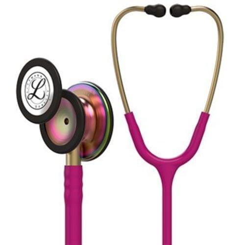 Littmann Classic III Monitoring Stethoscope With Rainbow Chestpiece - Raspberry Tube
