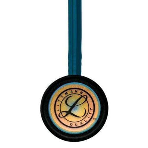 """<p>The latest version of the stethoscope that helps millions of medical professionals achieve their best. The 3M™ Littmann® Classic III™ Stethoscope offers high acoustic sensitivity for exceptional performance, a versatile two-sided chestpiece with tunable diaphragms that let clinicians hear different frequency sounds by simply adjusting the pressure, snap-tight, soft-sealing eartips, and resilient next-generation tubing that retains its shape and flexibility. Ideal for students and medical professionals alike.</p> <p><strong>Details</strong></p> <ul> <li>Monitor and assess a wide range of patients</li> <li>Single-piece tunable diaphragm is easy to attach, and easier to clean because its surface is smooth without crevices</li> <li>Pediatric side converts to a traditional open bell by replacing the single-piece diaphragm with a non-chill rim</li> <li>Next-generation tubing provides longer life due to improved resistance to skin oils and alcohol</li> <li>Stainless steel chestpiece is precision-machined into an aesthetically pleasing, less angular shape; the stem features open side indicator</li> <li>Snap-tight eartips have a soft, smooth surface providing a comfortable acoustic seal and comfortable fit</li> <li>Not made with natural rubber latex or phthalate plasticizers</li> <li>Five-year warranty</li> </ul> <p><strong>Specifications</strong></p> <ul> <li>Binaural Construction: Single lumen</li> <li>Chestpiece Finish: Rainbow</li> <li>Chestpiece Technology: Double-Sided</li> <li>Chestpiece Weight: 2.9 Ounce (82 g)</li> <li>Diameter: 1.7"""" (4.3 cm)</li> <li>Diaphragm Diameter: 1.7"""" (4.3 cm)</li> <li>Diaphragm Material: Epoxy/Fiberglass</li> <li>Headset Material: Wide diameter aerospace alloy / anodized aluminum</li> <li>Length: 27"""" (69 cm)</li> <li>Performance: 7</li> <li>Small Diaphragm Diameter: 1.3"""" (3.3 cm)</li> <li>Tube Colour: Caribbean Blue</li> <li>Warranty: 5 years</li> </ul>"""