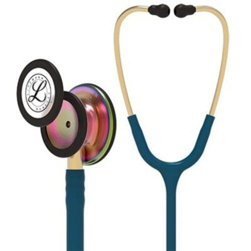 Littmann Classic III Monitoring Stethoscope With Rainbow Chestpiece - Caribbean Blue Tube