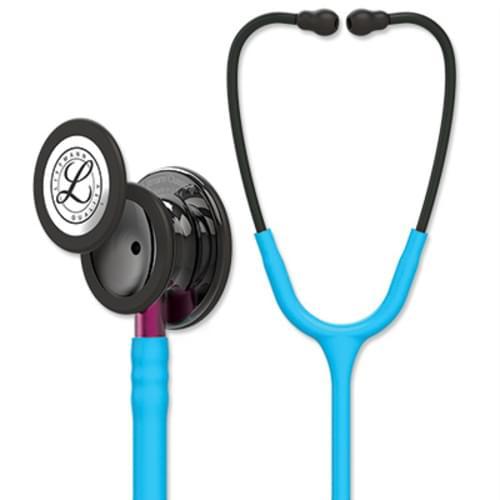 Littmann Classic III Monitoring Stethoscope With Smoke Chestpiece, Turquoise Tube, & Pink Stem