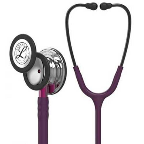 Littmann Classic III Monitoring Stethoscope With Mirror Chestpiece, Plum Tube, & Pink Stem