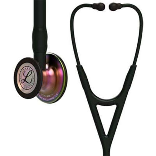 Littmann® Cardiology IV Stethoscope, Rainbow Finish Chest Piece, Black Tube, 27""