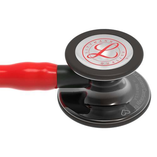"""<p><strong>Diagnose and Make Decisions with Confidence</strong></p> <p>Sturdy and refined, the Littmann Cardiology IV helps isolate subtle sounds so you can hear changes in your patients in the most critical and challenging environments. Designed to help you listen for hard-to-hear sounds, including aortic stenosis, S3 gallop murmurs, and faint pulmonary anomalies.</p> <p>Useful in critical care and challenging environments such as the ED, ICU, Cardiac ICU, step-down unit, and other dynamic locations Hear subtle changes in patient status. Better audibility of high-frequency sounds (adult side, firm pressure) compared to Cardiology III can help you learn more about your patient's condition.</p> <p><strong>Details</strong></p> <ul> <li>Hear subtle changes in patient status</li> <li>Useful in critical care and challenging environments such as the ED, ICU, Cardiac ICU, step-down unit, and other dynamic locations</li> <li>7-year warranty</li> <li>Ergonomic and high profile construction; 40% larger chestpiece and 60% deeper bell than the 3M™ Littmann® Classic III™ Stethoscope</li> <li>Designed for use with adult and pediatric patients</li> <li>Tunable, dual-sided chestpiece with open or closed bell</li> <li>Non-chill bell sleeve for greater patient comfort</li> <li>Soft-sealing ear-tips provide optimal comfort and excellent sound occlusion</li> </ul> <p><strong>Specifications</strong></p> <ul> <li>Binaural Construction: Double Lumen</li> <li>Chestpiece Finish: High Polish, Smoke</li> <li>Chestpiece Technology: Double-Sided</li> <li>Chestpiece Weight: 3.1 Ounce (87 g)</li> <li>Diaphragm Diameter: 1.7"""" (4.3 cm)</li> <li>Diaphragm Material: Epoxy/Fiberglass</li> <li>Headset Material: Wide diameter aerospace alloy/anodized aluminum</li> <li>Overall Diameter: 1.7""""</li> <li>Overall Length: 27"""" (69 cm)</li> <li>Performance: 9</li> <li>Small Diaphragm Diameter: 1.3"""" (3.3 cm)</li> <li>Special Adapters: No</li> <li>Tube Colour: Red</li> <li>Warranty: 7 Years</li> </ul>"""
