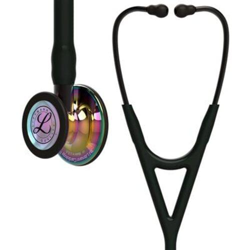Littmann® Cardiology IV Stethoscope, Rainbow CP Finish, Black Tube, Smoke Stem, 27""