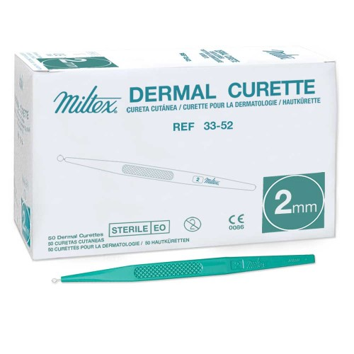 MILTEX Sterile Disposable Dermal Curette - 2 mm