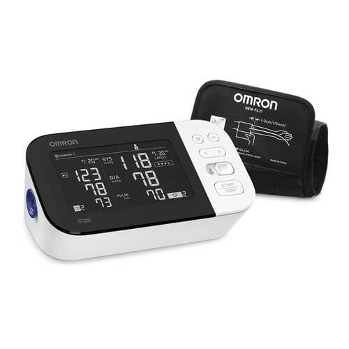 """<p>The OMRON 10 Series Wireless<em>Bluetooth</em>® Upper Arm home blood pressure monitor has a horizontally designed dual-display monitor and stores up to 200 readings for two users (100 per user) and includes a pre-formed Easy-Wrap Comfit Cuff (fits arms 9"""" to 17"""" (22-42 cm) in circumference).</p> <p>The easy-to-use OMRON 10 Series Wireless Upper Arm home blood pressure monitor (BP7450CAN) is powered by OMRON Advanced Accuracy technology, which measures five times more data points for more consistent, precise readings. This OMRON-exclusive technology minimizes the impact your breathing and movements will have on your blood pressure reading results, helping to reduce measurement inconsistencies and errors.</p> <p>The 10 Series Wireless Upper Arm Monitor features a horizontally designed, dual LCD monitor, which lets you immediately compare your current reading to your last reading, while the large, black, backlit side-by-side comparison display makes your readings easier to see.</p> <p>This monitor includes other OMRON exclusives such as an enhanced Irregular Heartbeat Symbol, which alerts you of the number of irregular heartbeats (up to three) while your blood pressure is being measured, and TruRead technology which, allows you to automatically take three consecutive readings at intervals you can customize (15 seconds, 30 seconds, 60 seconds, or the optimal two-minute rest period between readings) and displays the average.</p> <p><strong>Features</strong></p> <ul> <li><strong>Dual LCD Display:</strong>Two-User, 200-Reading Storage: shows your last reading right next to your current reading for a convenient and immediate comparison and accommodates two users, storing up to 200 readings (100 readings per user) on one device; also includes AC Adapter</li> <li><strong>TruRead Technology:</strong>allows you to automatically take 3 consecutive readings at intervals you can customize (15 seconds, 30 seconds, 60 seconds, or the optimal two-minute rest period between reading"""