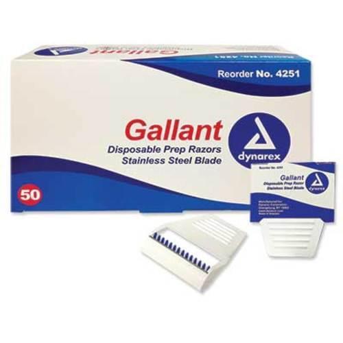 Gallant Safety Prep Razors 50/box Specifically designed for ECG site preparation