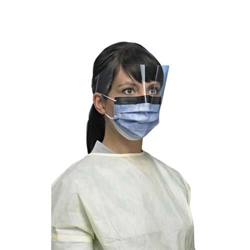 priMED ASTM Level 3 Earloop Visor Mask 3-Ply With Filter 25/Box