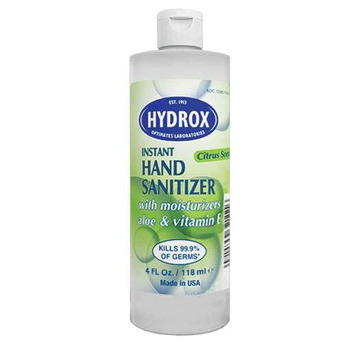 <p><strong>70% v/v Ethyl Alcohol Formula</strong></p> <p>Waterless formula allows use everywhere, anytime. Clinical studies performed by independent laboratories using FDA recommended study (test) guidelines concluded that Hydrox Waterless Instant Hand Sanitizers demonstrate rapid kill times:</p> <ul> <li>On a broad range of gram negative and gram positive bacteria</li> <li>On antibiotic-resistant organisms</li> </ul> <p>Ethyl alcohol's exceptional cidal activity has led to its recognition as the most effective agent available for a waterless hand sanitizer.</p>