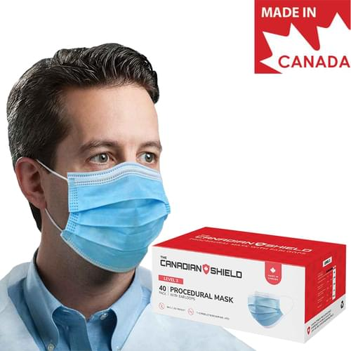 Medical Level 3 Earloop Face Mask 3-Ply With Filter Blue 40/Box