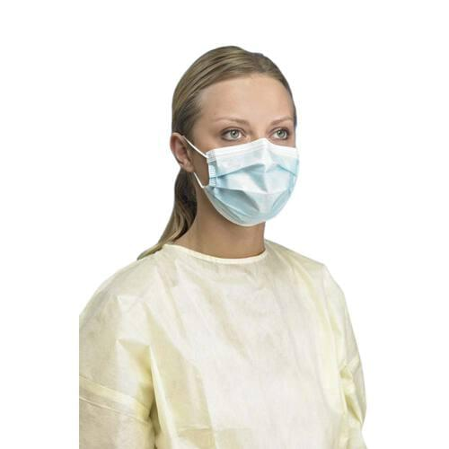 PRIMED PG4-1211 Level 1 Procedure Earloop Face Mask Blue 3-Ply With Filter 50/Box