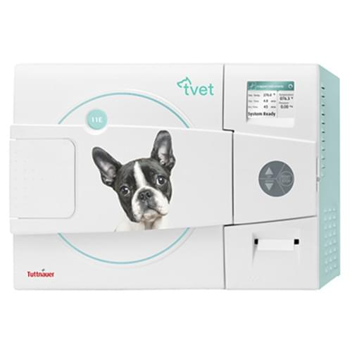 "Tuttnauer Automatic Vet Autoclave with Printer 11"" x 19.8"""