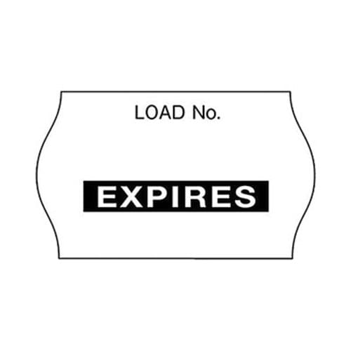 3M Comply Load Labels - Expires Black 1125/Roll